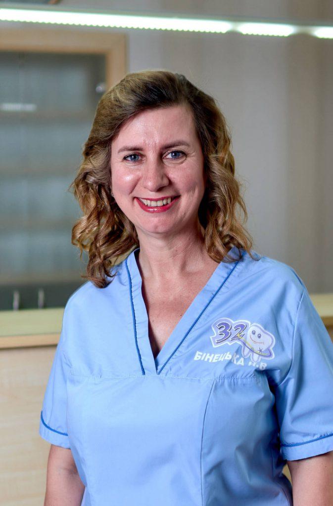 БІНЕЦЬКА НАТАЛІЯ ВАСИЛІВНА стоматологія 32 перлини нововолинськ
